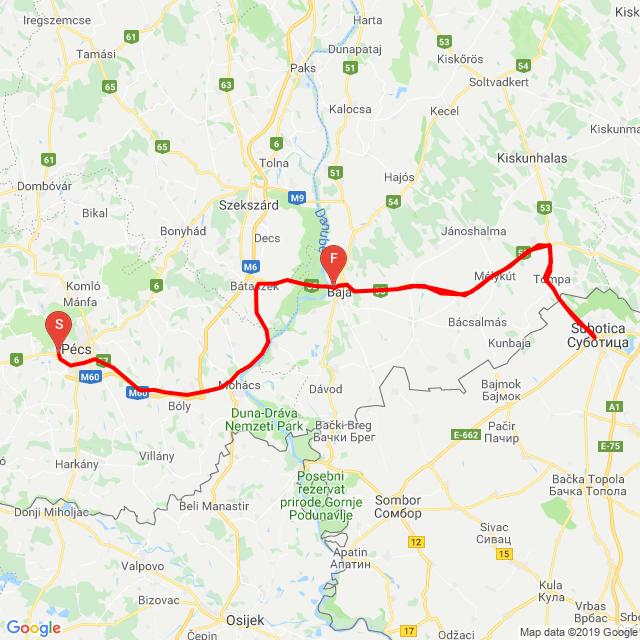 Pécs Szabadka Pécs
