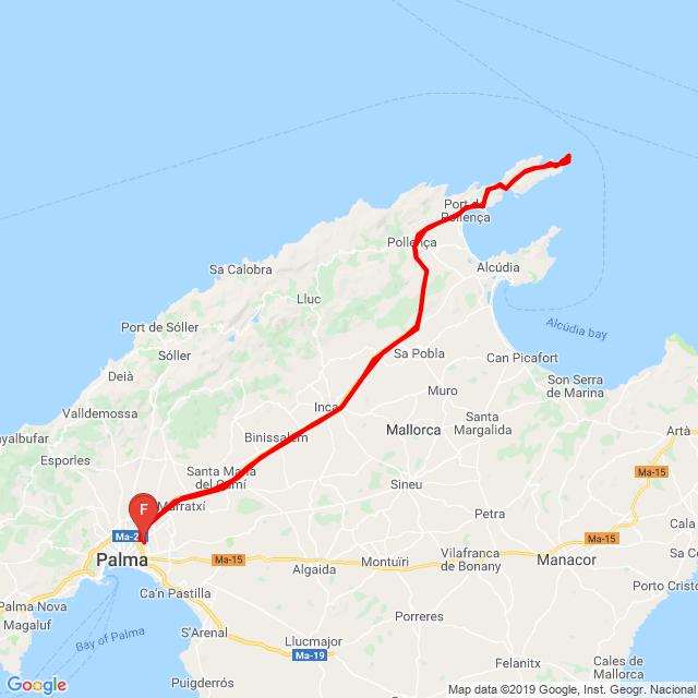 Ruta faro Formentor.