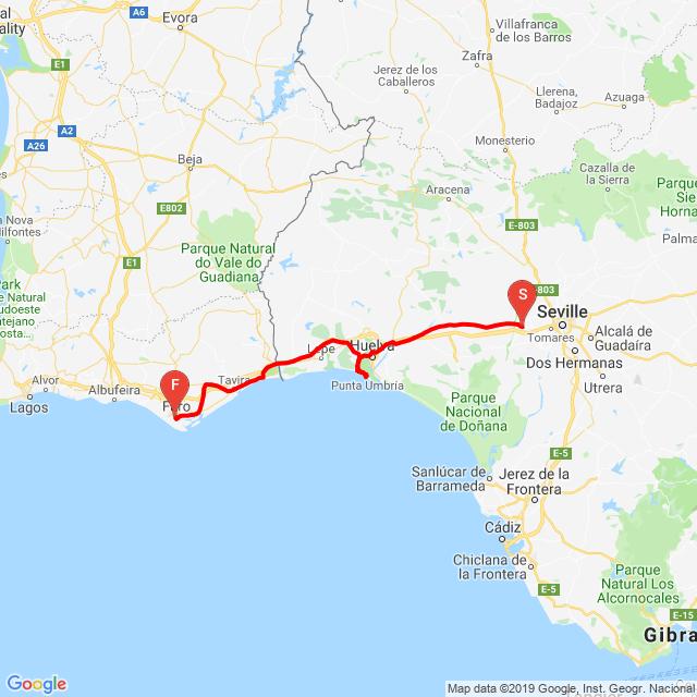 dalla Spagna al Portogallo