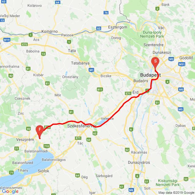 Nem látni, de Gyulakeszi - Tapolca - Bp.