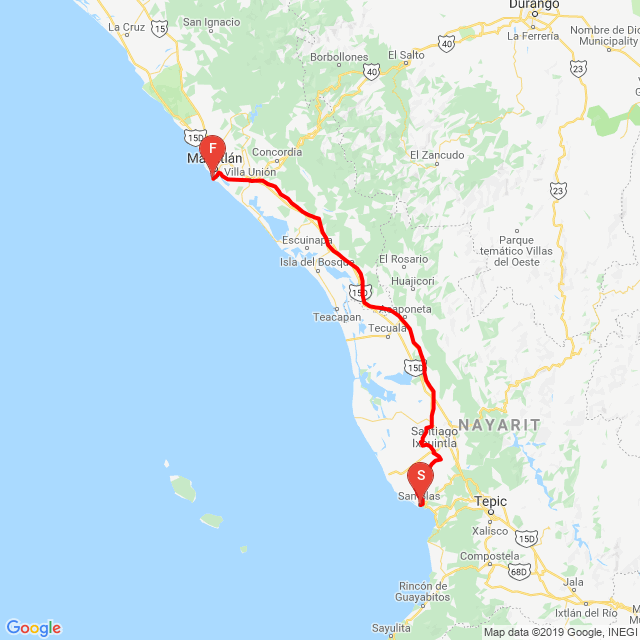 20190509_San Blas to Mazatlan (glömde slå på i början)