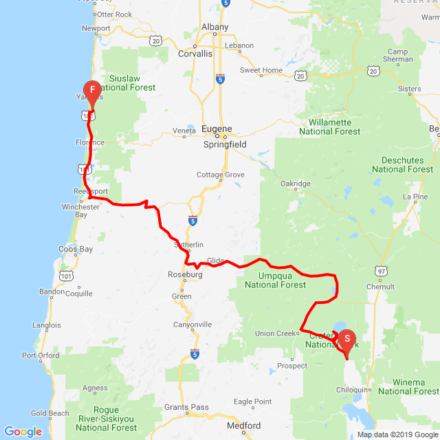 20190610_Crater Lake to Oregon Coast
