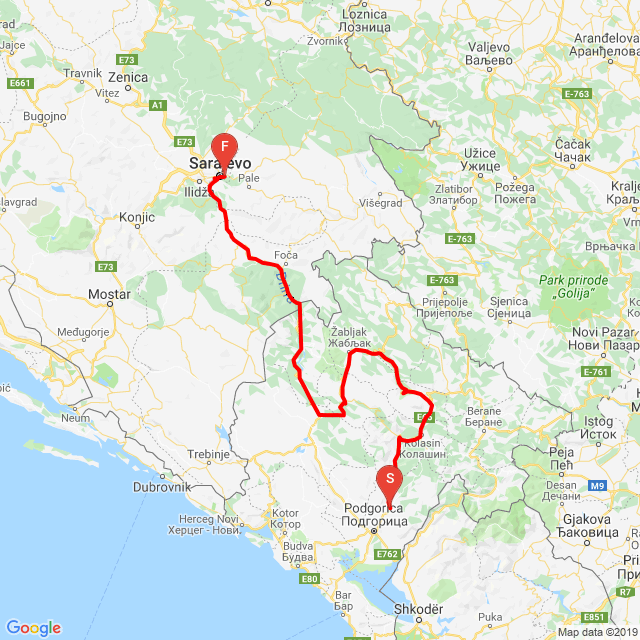 20190508_Podgorica - Szarajevó