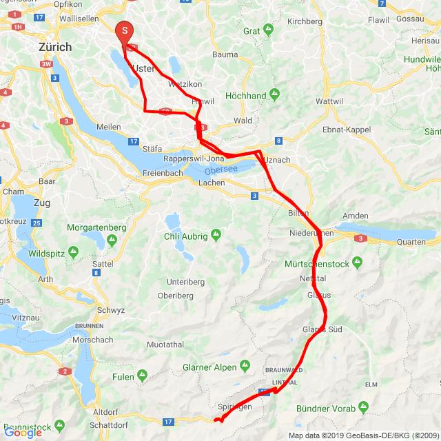 Greifensee- Glarus- Klausen Pass