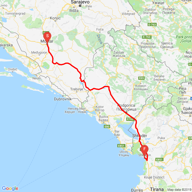 Mostar Albánia Shëngjin