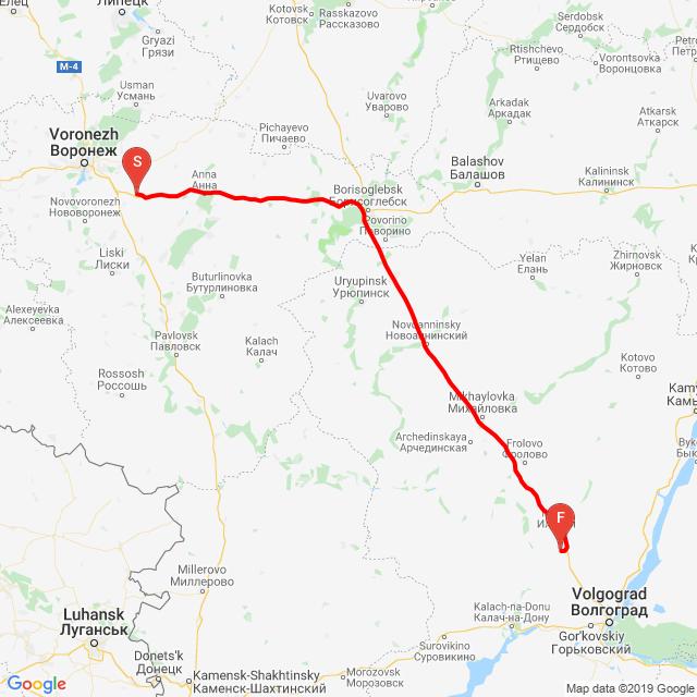 Hovlya -  Kashirskoye/pred Volgograd/
