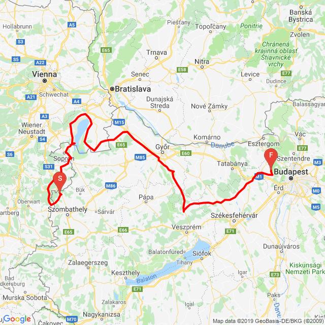 Kőszeg - Fertő-tó - Pannonhalma - Zirc - Bicske