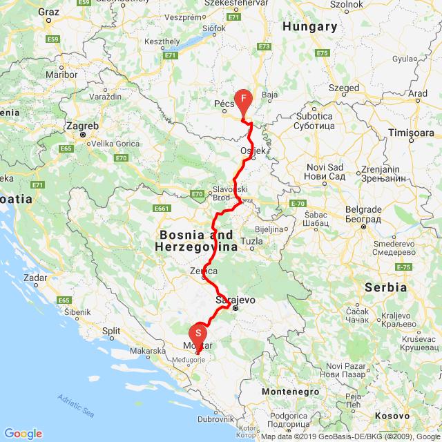 Mostar - Szajk ( Nyaralás vége)