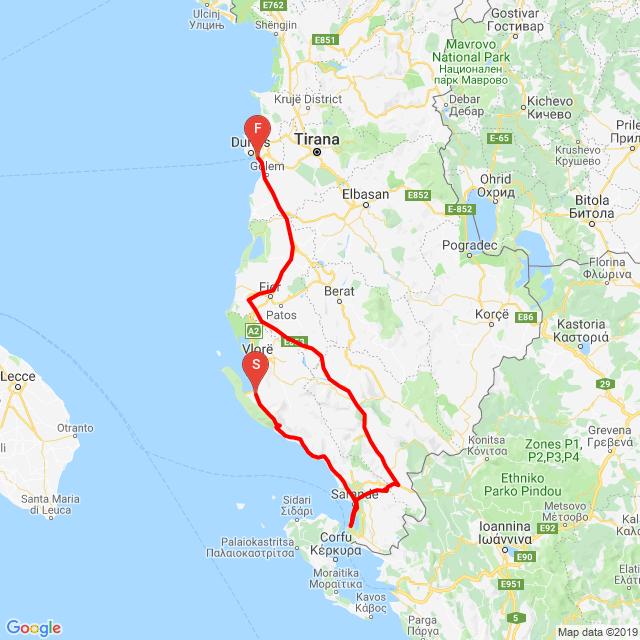 Albánia, Vlora-Durres 20190920