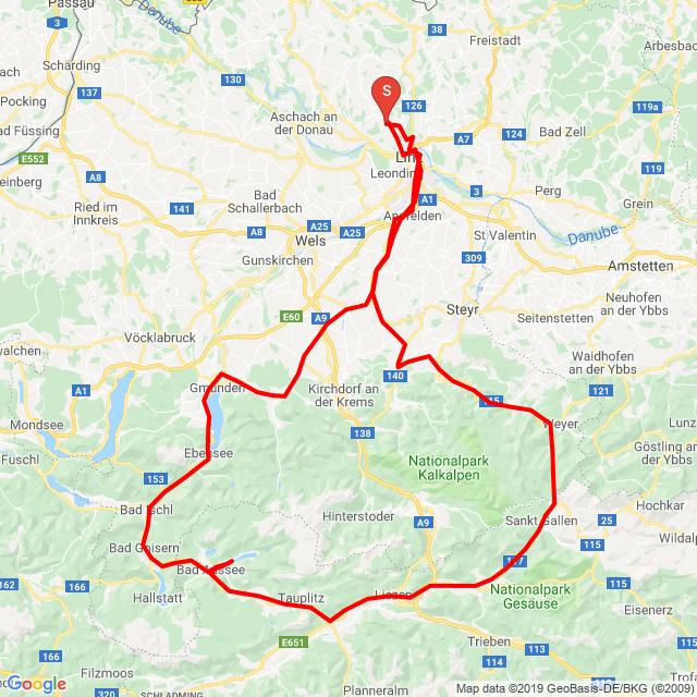 Ennstal-STM-Bad Aussee-Pötschenpass-Gmunden-Linz