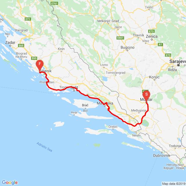 Mostar-Biokovo-Vodice