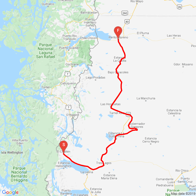 El Chalten - Perito Moreno