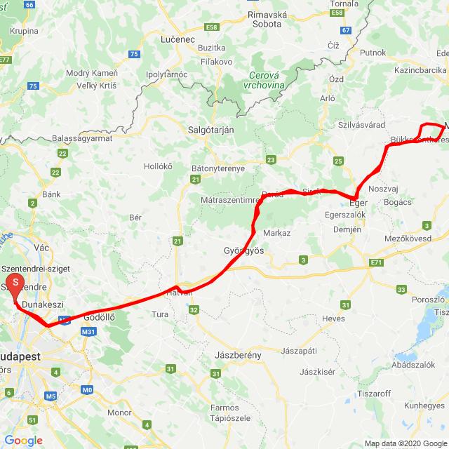 Pomáz - Parád - Miskolc - Pomáz