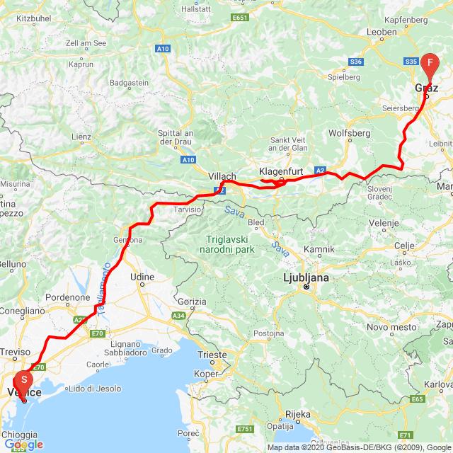 Velence - Graz ötödik nap