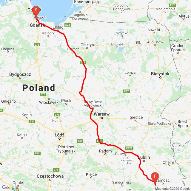 Gdańsk -Szczebrzeszyn