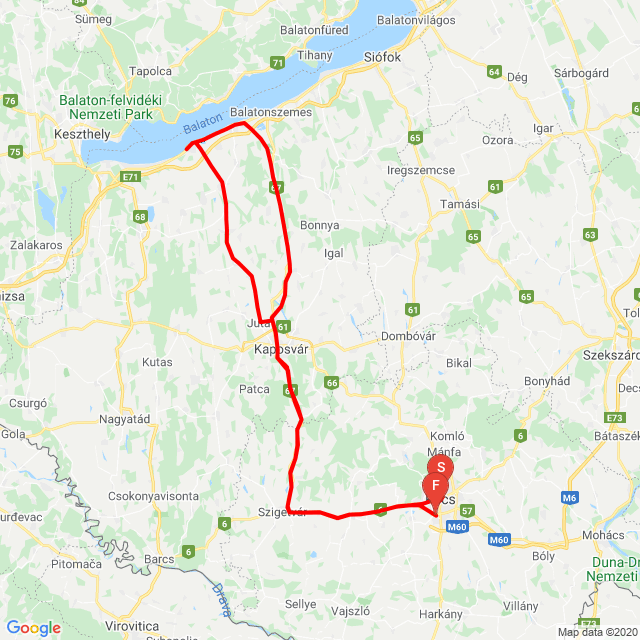 Pécs-Fonyód-Pécs