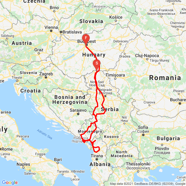 Motoride Balkán túra 20210505
