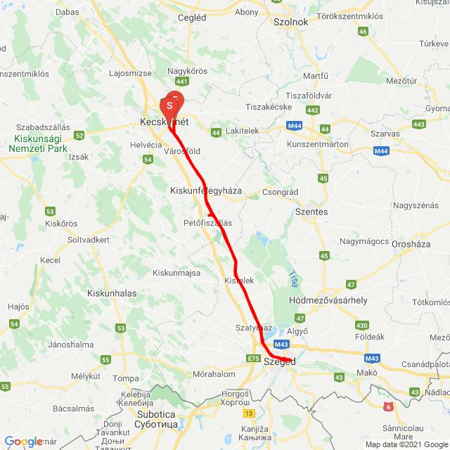 Kecskemét-Szeged-Kecskemét