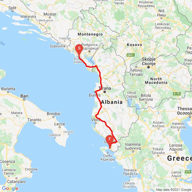 20210707_Budva (Montenegro) - Ksamil (Albánia)