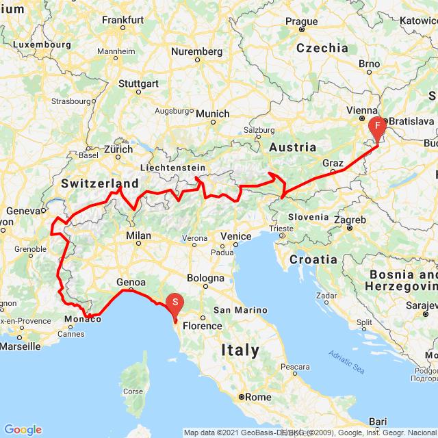 Európa hágó túra 2021