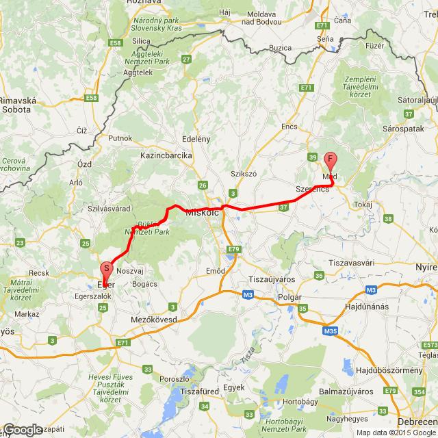 Eger -  Mád 2015.08.15