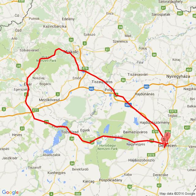 Debrecen-Lillafüred-Eger-Hortobágy-Debrecen