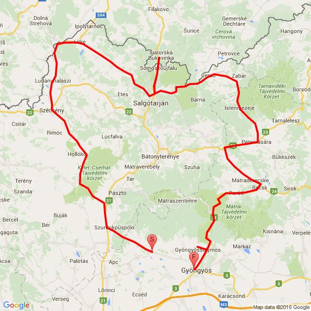20160710 Gyöngyös - Szécsény - Siatorska -  Cered - Recsk - Gyöngyös