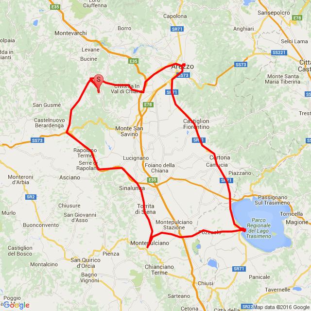 20160711 Arezzo - Castiglione - Montepulciano