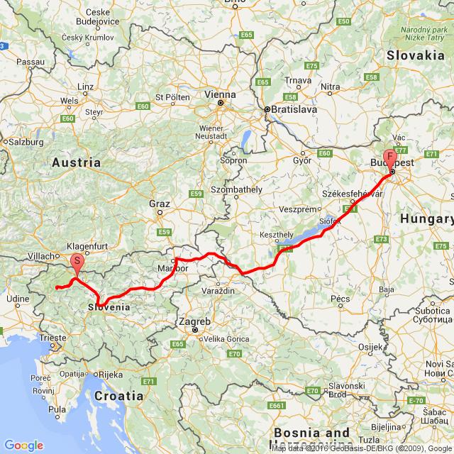 20160717 Bled -Triglav - Budapest