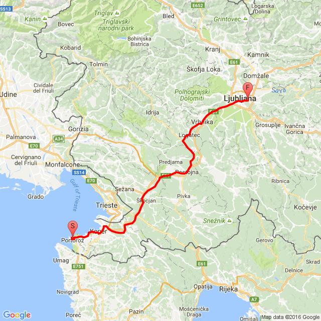 Portoroz - Ljubljana