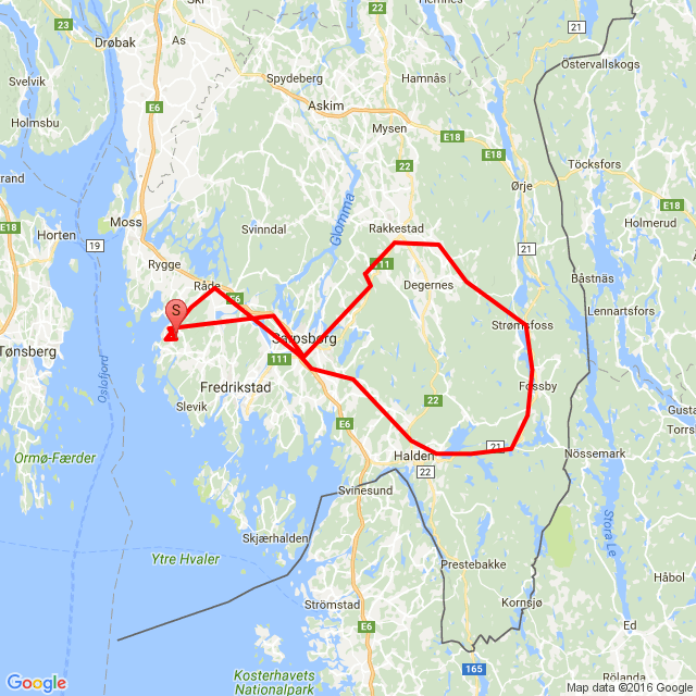 20160731 Koretveien-Rudskogen-Halden-Koretveien