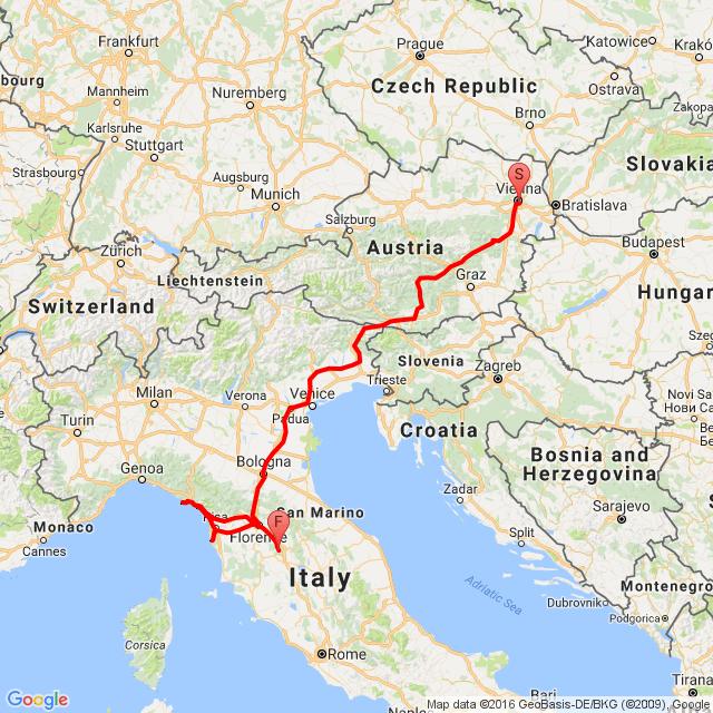 20160708_ToscanaTourNo.0: Wien-Livorno-Bucine