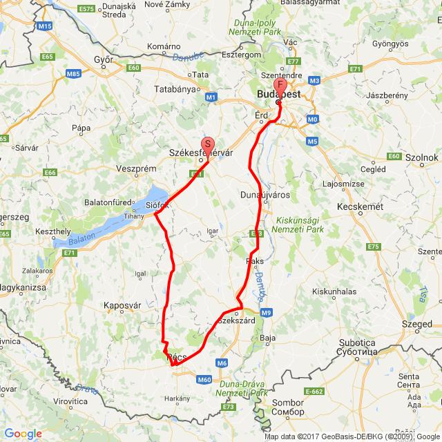 Székesfehérvár- Orfű- Pécs- Budapest