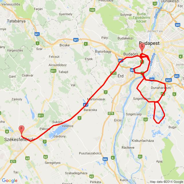 Budapest - Délegyháza - Szfvár 2016.08.07