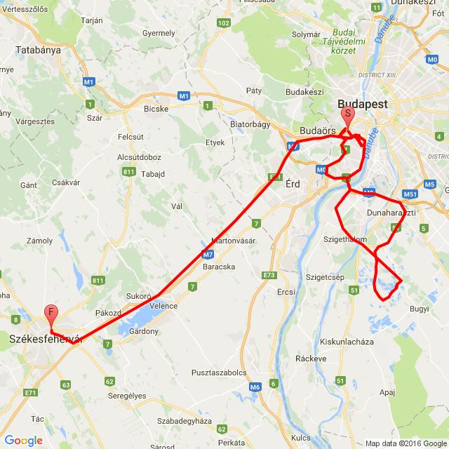 Budapest- Délegyháza- Székesfehérvár