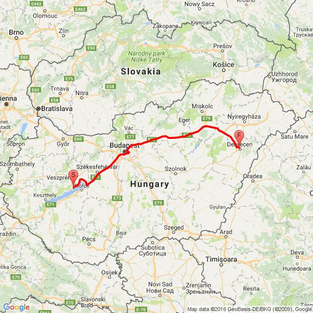 Balatonfüred - Debrecen