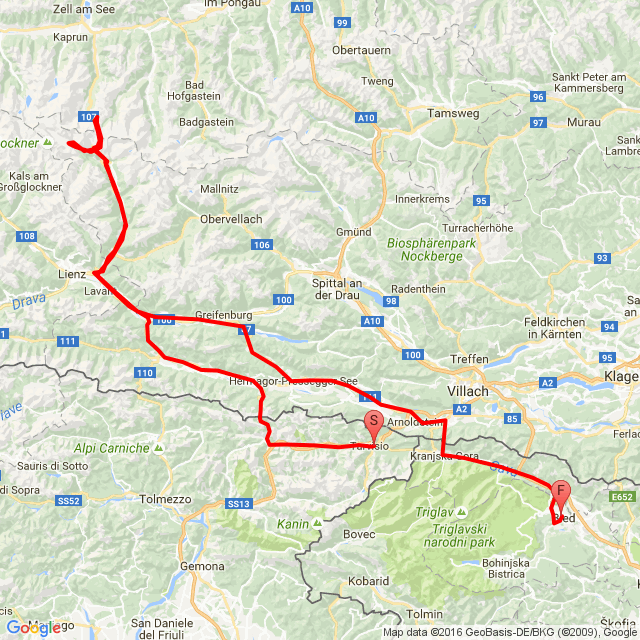 tesztmotor - rhinotours kanyarvadász túra Bled - Tarvisio - Grossglockner