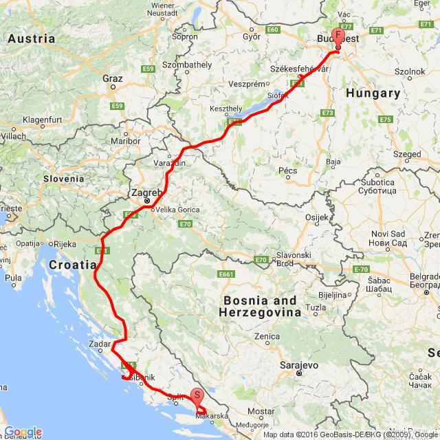 Lokva Rogoznica - Murter - Budapest 2016.09.10