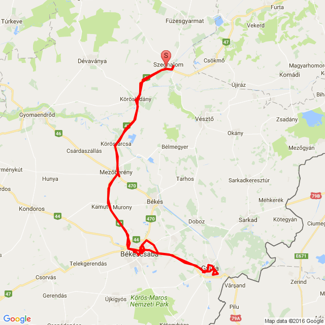 Szeghalom-Békéscsaba-Gyula
