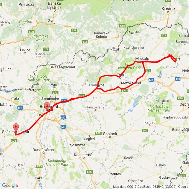 Bp. - Mád - Szfvár 2017.05.06