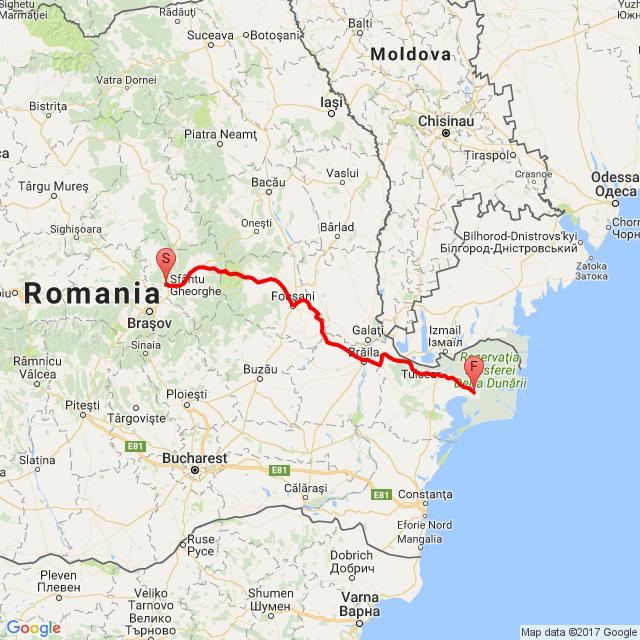 Sepsiszentgyörgy - Murighiol a Duna-delta szállásig