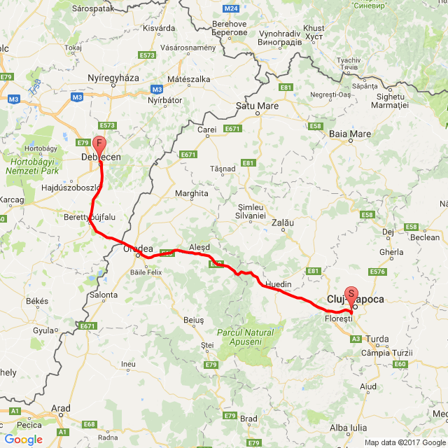 Kolozsvárról haza Debrecenbe, túra vége