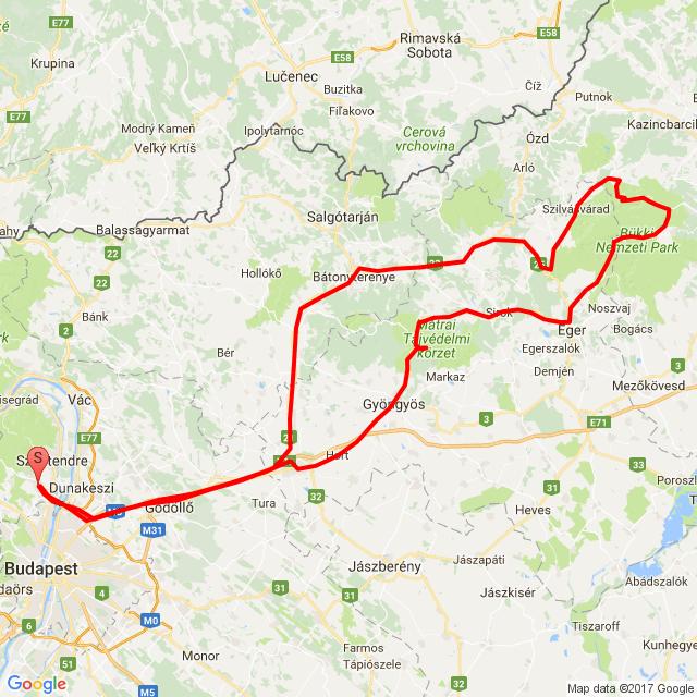 Pomáz - Eger - Lillafüred - Szarvaskő - Pomáz