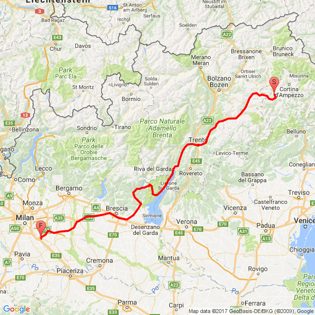 dalle Dolomiti al Garda , strada della Forra , valvestino e lago D idro