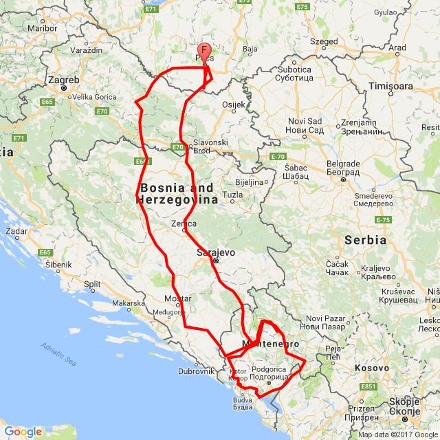 Balkán túra