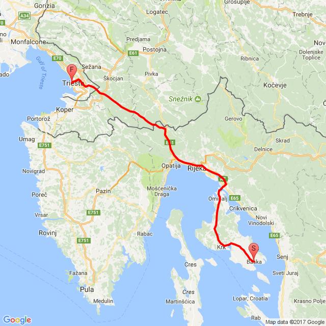 Baška (HR) - Trieste (IT)