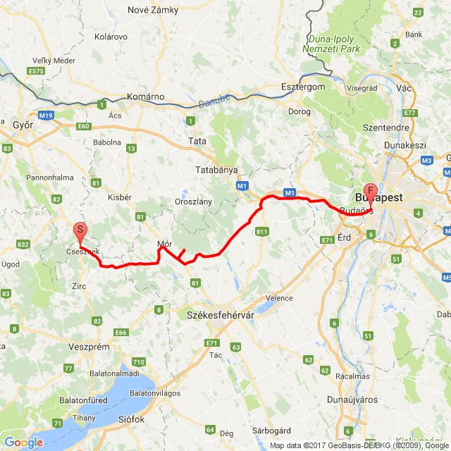 20170728 Csesznek - Budapest
