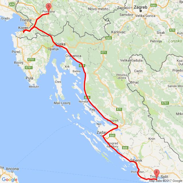 20170814_ Postojna - Trogir