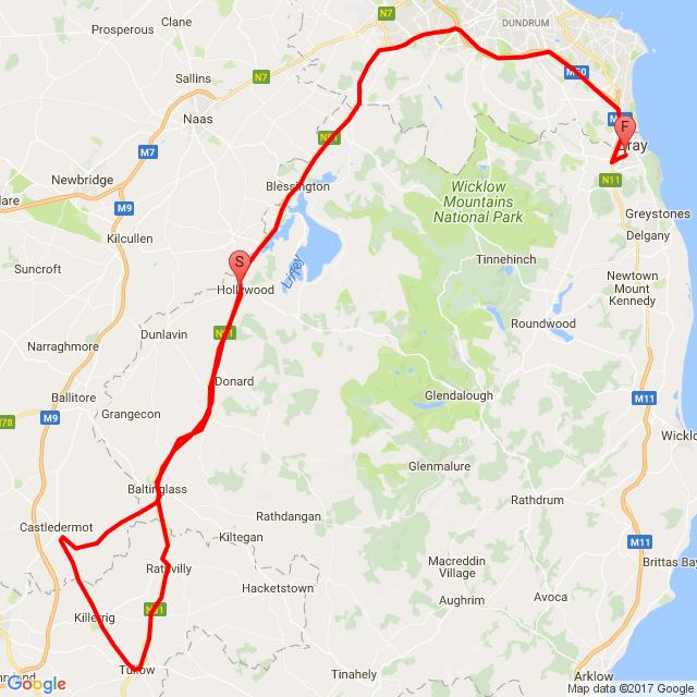 1st ride ,Autumn - Bray-Roundwood-Holywood-Baltinglass-Bray