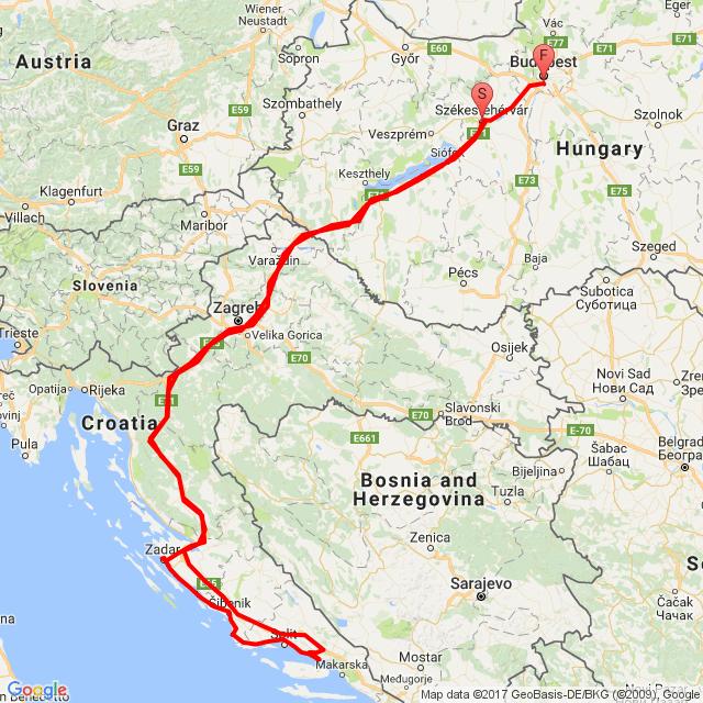 Zadar-Primosten- Omis-Lokva Rogoznica